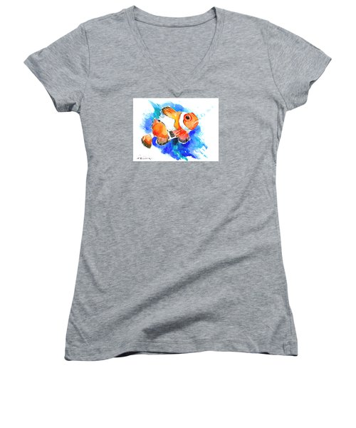 Clownfish Women's V-Neck T-Shirt