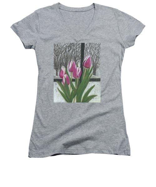 C'mon Spring Women's V-Neck T-Shirt