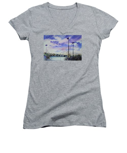 Coastal Beach Highway Women's V-Neck (Athletic Fit)