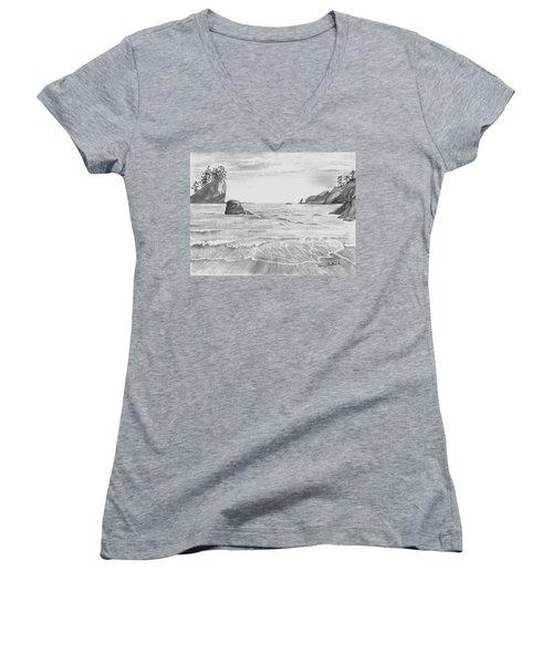 Coastal Beach Women's V-Neck