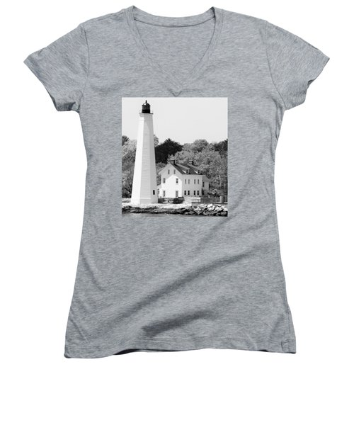 Coastal Lighthouse Women's V-Neck (Athletic Fit)