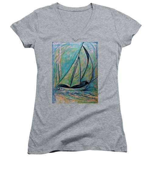 Coastal Metallic Women's V-Neck T-Shirt