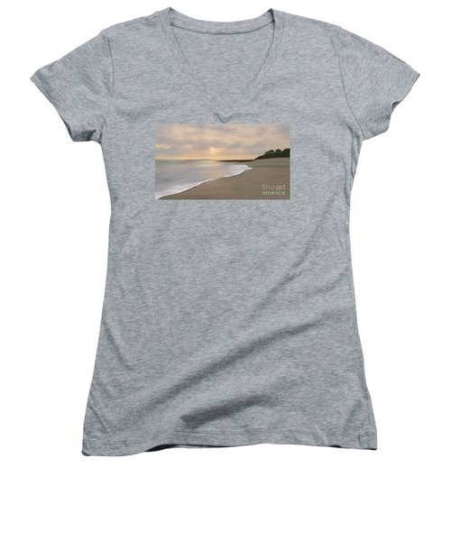 Coastal Sunrise Women's V-Neck (Athletic Fit)