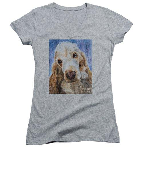 Cocker Spaniel Love Women's V-Neck T-Shirt