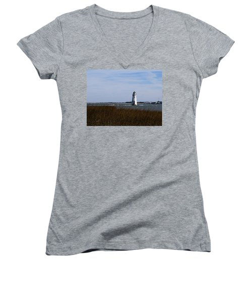 Cockspur Lighthouse Women's V-Neck T-Shirt