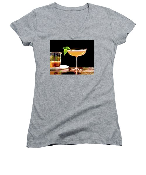 Cocktail And Dreams Women's V-Neck T-Shirt (Junior Cut) by Charles Shoup
