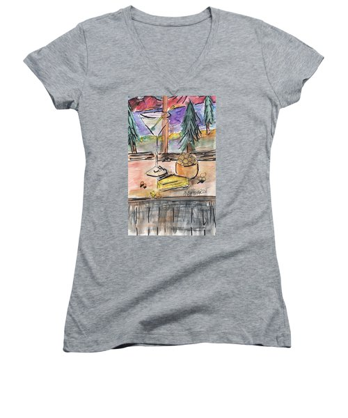 Cocktail At Tahoe  Women's V-Neck T-Shirt