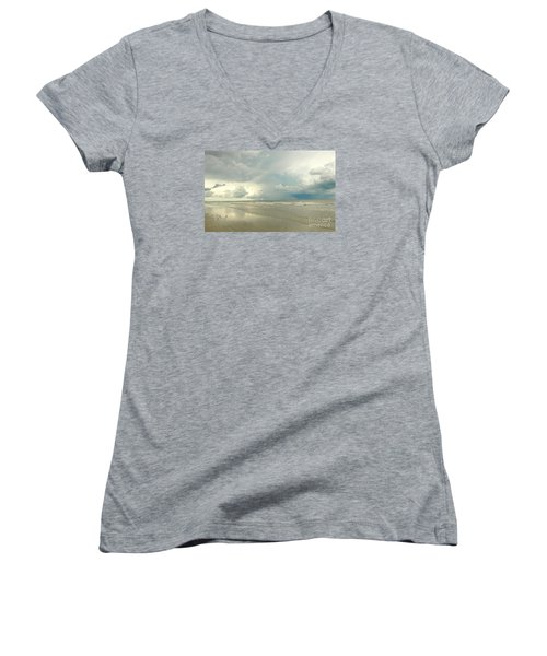 Women's V-Neck T-Shirt (Junior Cut) featuring the photograph Coco Beach by Raymond Earley