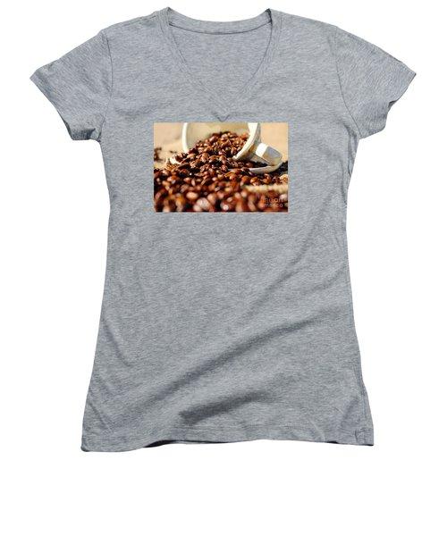 Coffee #8  Women's V-Neck