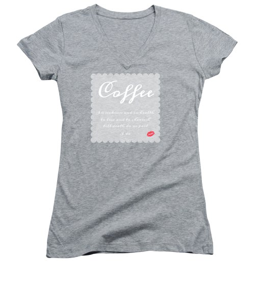Coffee I Do Women's V-Neck (Athletic Fit)