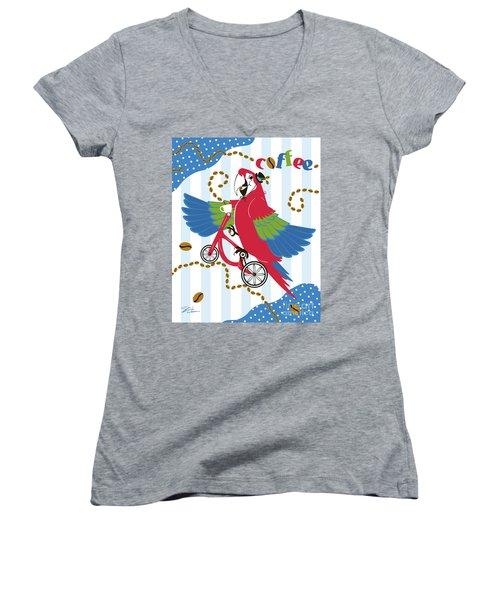 Coffee Parrot Women's V-Neck