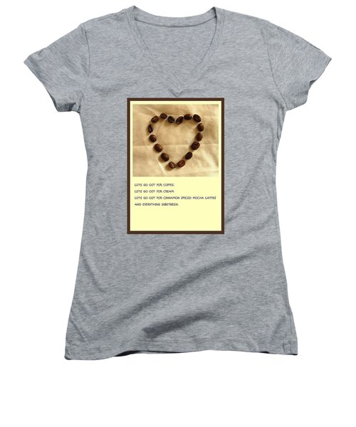 Coffee Shop Hopping Women's V-Neck T-Shirt