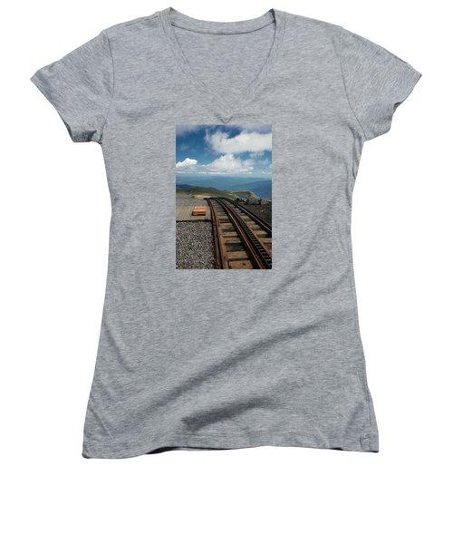Cog Railway Stop Women's V-Neck