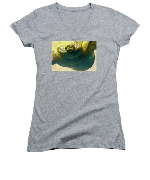 Coiled Women's V-Neck T-Shirt (Junior Cut) by Jack Zulli