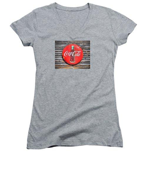 Coke Women's V-Neck T-Shirt (Junior Cut) by Marion Johnson