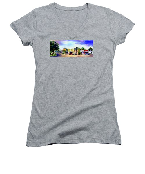 Colfax Main And Church Street Women's V-Neck
