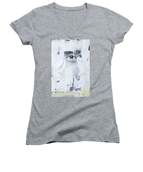 Street Collage 2 Women's V-Neck T-Shirt (Junior Cut) by Colleen Williams