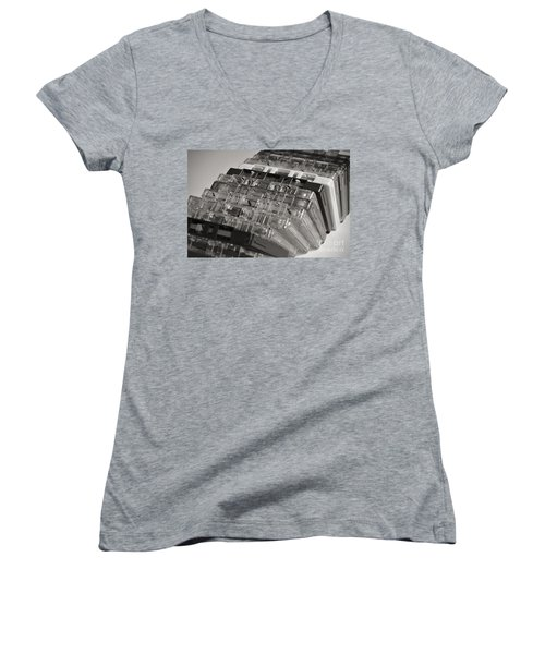 Collection Of Audio Cassettes With Domino Effect Women's V-Neck T-Shirt (Junior Cut) by Angelo DeVal