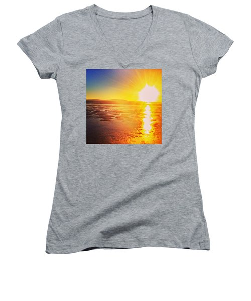 College Sunset Women's V-Neck