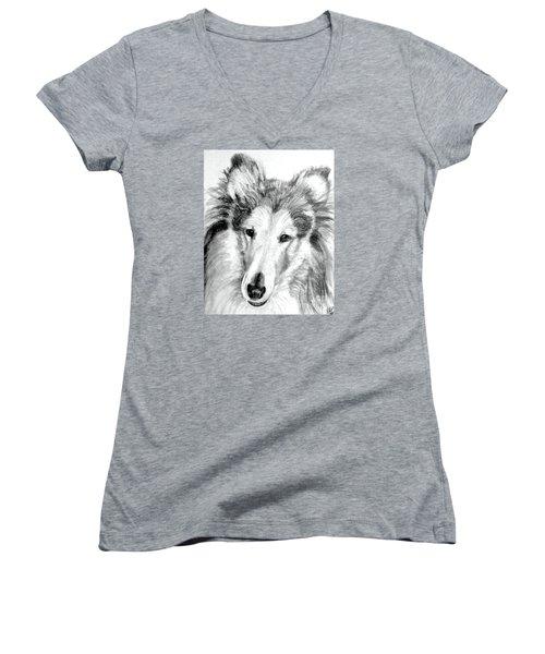 Collie Rough Lover Women's V-Neck T-Shirt