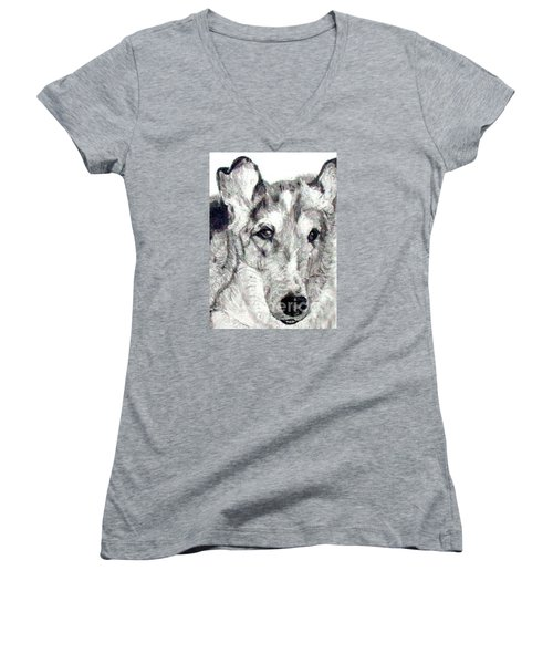 Collie Smooth Lover Women's V-Neck T-Shirt