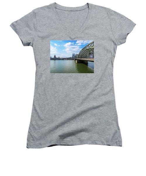 Cologne Women's V-Neck T-Shirt (Junior Cut) by Cesar Vieira