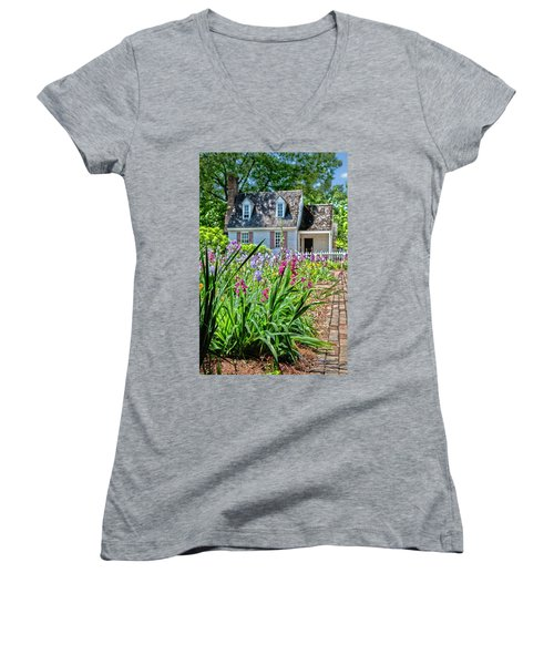 Colonial Garden1 Women's V-Neck (Athletic Fit)