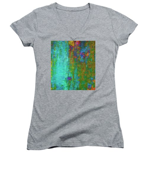 Color Abstraction Lxvii Women's V-Neck