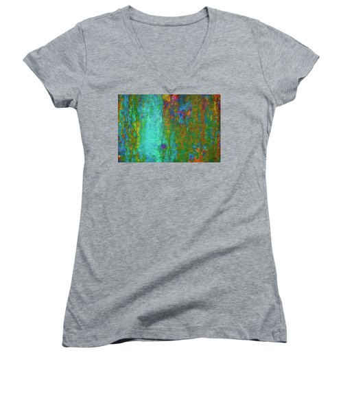Color Abstraction Lxvii Women's V-Neck (Athletic Fit)