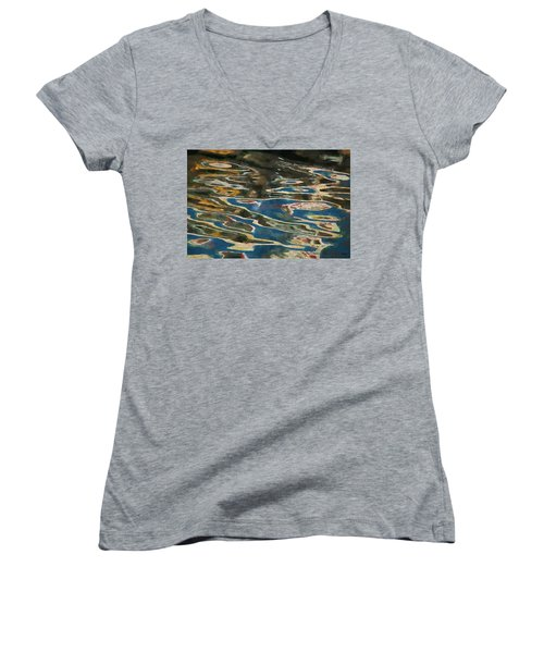 Color Abstraction Lxxv Women's V-Neck T-Shirt
