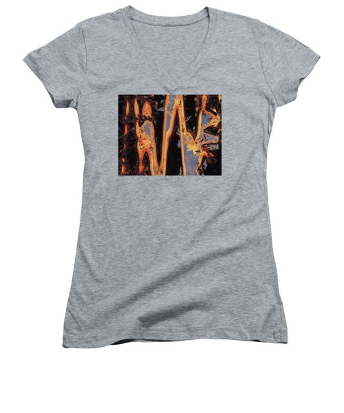 Color Abstraction Xli Women's V-Neck (Athletic Fit)