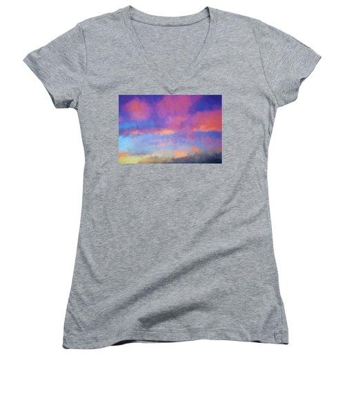Color Abstraction Xlviii - Sunset Women's V-Neck