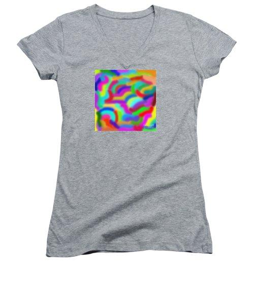 Color Around Women's V-Neck T-Shirt
