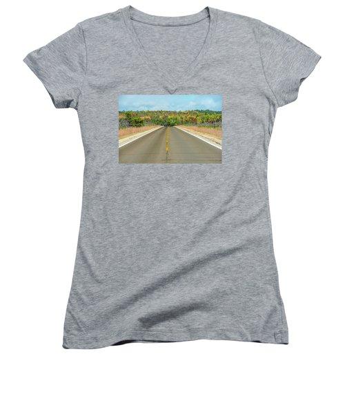 Color At Roads End Women's V-Neck (Athletic Fit)