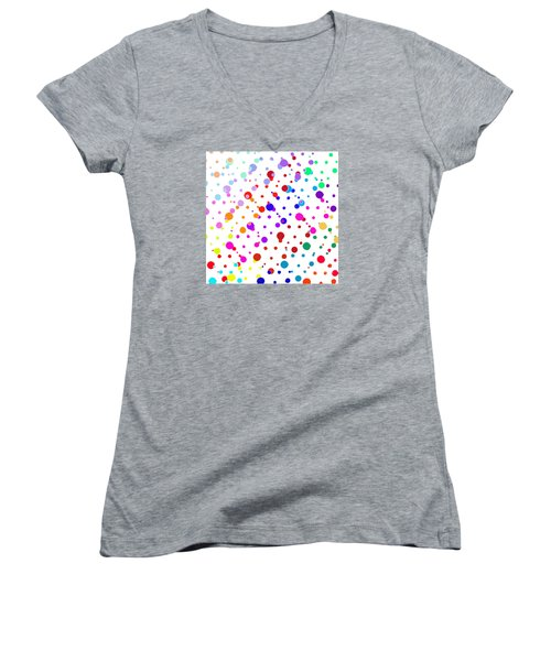 Color Cells Women's V-Neck T-Shirt