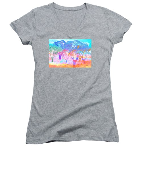 Color My World Women's V-Neck T-Shirt