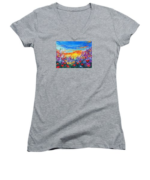 Color My World Women's V-Neck T-Shirt (Junior Cut)