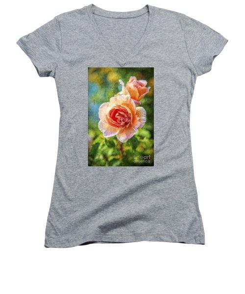 Color Of The Rose Women's V-Neck