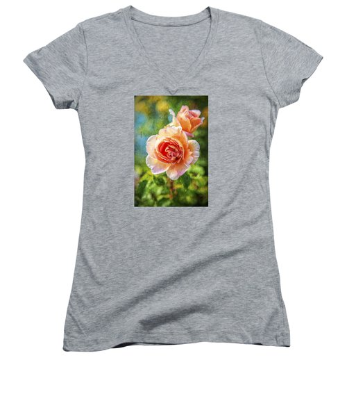 Color Of The Rose Women's V-Neck