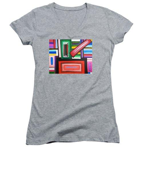 Color Squares Women's V-Neck