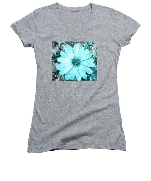Color Trend Blue Blossom Women's V-Neck T-Shirt