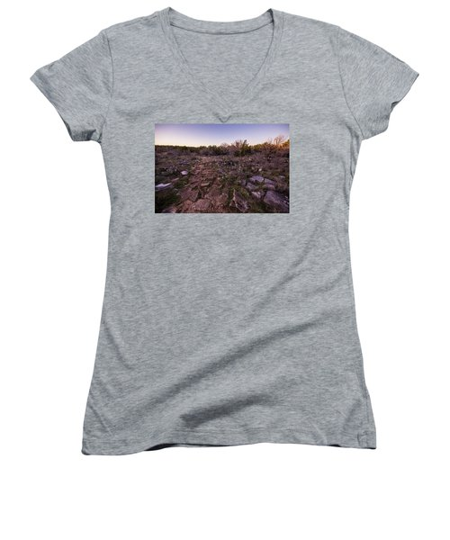Colorado Bend State Park Gorman Falls Trail #1 Women's V-Neck T-Shirt
