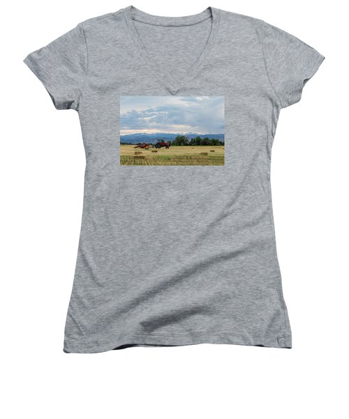 Women's V-Neck T-Shirt featuring the photograph Colorado Country by James BO Insogna