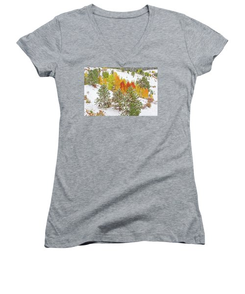 Colorado Is Stunningly Beautiful. Here's One Example Among Countless Others.  Women's V-Neck T-Shirt