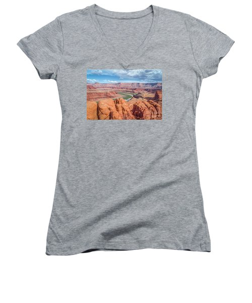 Colorado River And Chicken Corner Trail  Women's V-Neck (Athletic Fit)