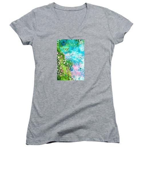 Colorful Art - Enchanting Spring - Sharon Cummings Women's V-Neck (Athletic Fit)