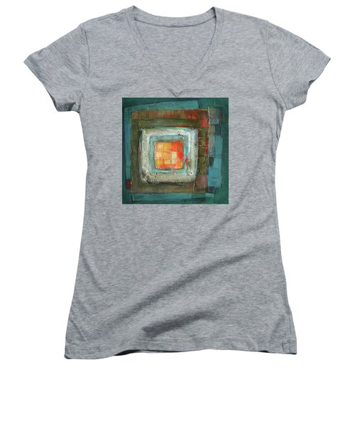 Colorful Women's V-Neck T-Shirt (Junior Cut) by Behzad Sohrabi