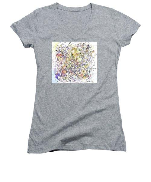 Colorful Blog Women's V-Neck T-Shirt (Junior Cut) by Lisa Kaiser