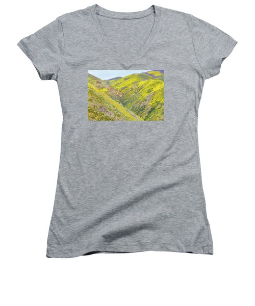 Women's V-Neck T-Shirt (Junior Cut) featuring the photograph Colorful Canyon by Marc Crumpler