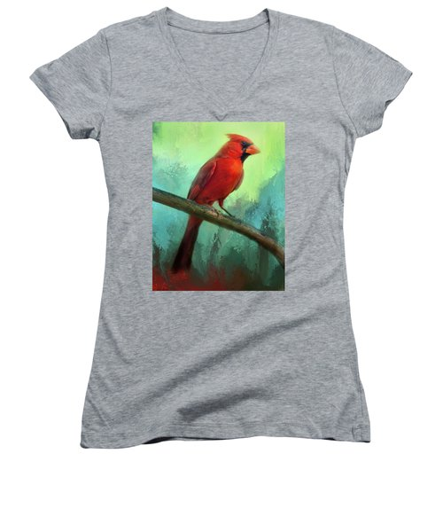 Colorful Cardinal Women's V-Neck (Athletic Fit)
